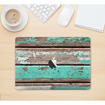 "The Chipped Teal Paint On Wood Skin Kit for the 12"" Apple MacBook"