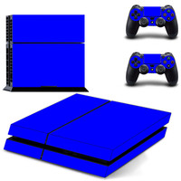 BLUE design skin for ps4 decal sticker console & controllers