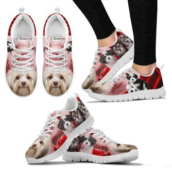 Cute Havanese Print Running Shoe For Women- Free Shipping