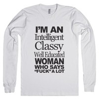 Intelligent Classy Well Educated Woman-Unisex White T-Shirt