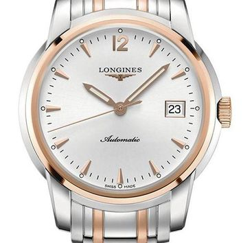 Longines Saint-Imier Automatic Steel & 18k Gold Plated Mens Watch Calendar L2.766.5.72.7