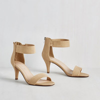 Minimal Straightforward Moving Heel by ModCloth