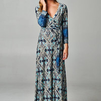 Blue Maternity Dresses - Time and Grace