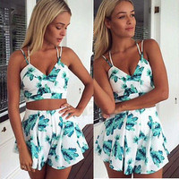 Women Clubwear Floral Playsuit Bodycon Party Jumpsuit & Romper