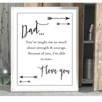Dad poster gift for dad unframed art print 8 x10 father wall decor
