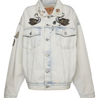 Oversized Bleached Denim Jacket - Marc Jacobs