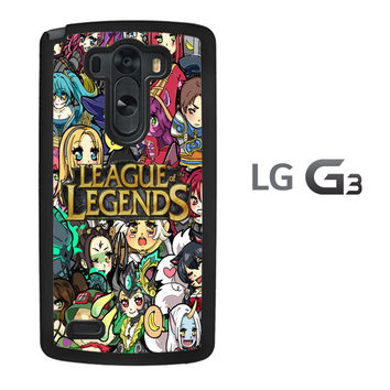 League of Legends Chibi Champions A0672 LG G3 Case