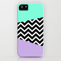 Tiffany Mint Lavender Chevron iPhone case iPhone & iPod Case by RexLambo