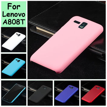 For Lenovo A808t A806 a8 a808  Ultra Thin cell  Rubber Oil-painted Hard Plastic phone case shell hood mobile phone back cover