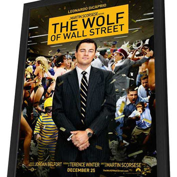 The Wolf of Wall Street 27x40 Framed Movie Poster (2013)
