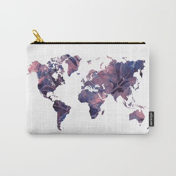 world map 76 purple Carry-All Pouch by jbjart