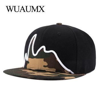 Trendy Winter Jacket Wuaumx Snapback Caps For Men Flat Brim straight Strapback Hat For Women Baseball Caps Snap back Hip Hop Casquette Bone Masculino AT_92_12