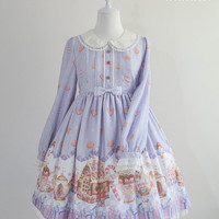 Ginger Cookie House Sweet Lolita OP Dress
