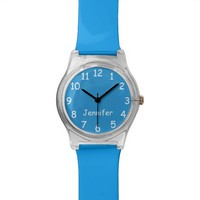 CHOOSE YOUR COLORS Your Text Custom Watch FUN Blue