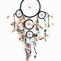 Handmade Dream Catcher with feather wall hanging decoration ornament-3R