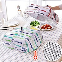Food Covers Keep Warm Vegetable Cover Foldable Aluminum Foil Cover Dishes Insulation Kitchen Cozinha Criativa Food Cover Nets
