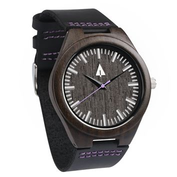 Wooden Watch // Theo Purple Sky