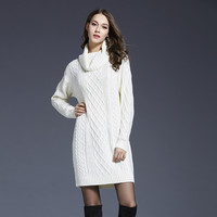 Knit Tops Hot Sale Sweater One Piece Dress [9010376134]