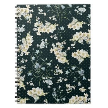 Dark vintage flower wallpaper pattern