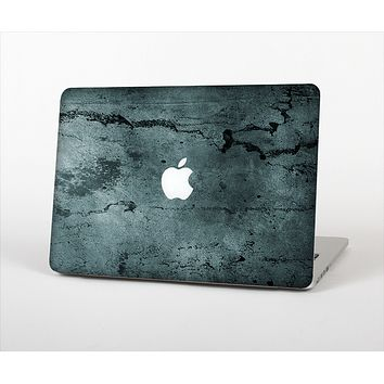 """The Dark Blue Cracked Texture Skin Set for the Apple MacBook Pro 13"""""""