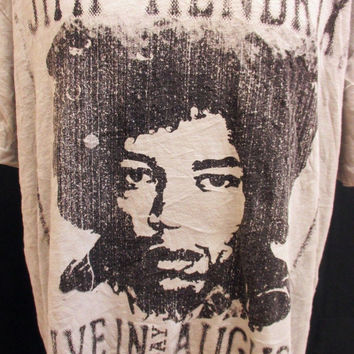 Retro JIMI HENDRIX Tour Poster American Band Music Rock Tee T-Shirt 2XL