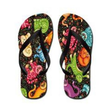 Flipping Cat Flip Flops>  Animals Flip Flops> Knock Your Socks Off Wear Flip Flops