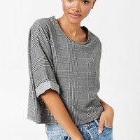 Boxy Glen Plaid Top