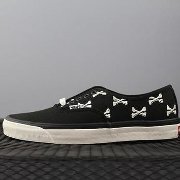 Vans X Wtaps Sk8 Hi Chukka Low Tops Fashion Canvas Flats Sneakers Sport Shoes Black
