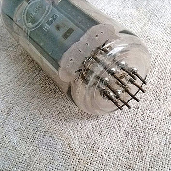 Vintage big electron bulb Radio tube Retro glass lamp vacuum TV tube Rectifier tubes Industrial look Supplies electronics Recycled Steampunk