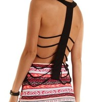 Caged T-Back Swing Tank Top by Charlotte Russe