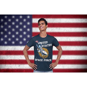 Men's Funny Space Force T Shirt United States Space Force Shirt Astronaut Shirts Funny Shirts U.S. Space Force