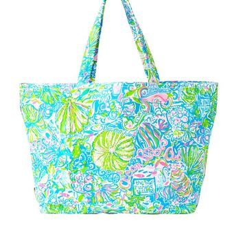 LILLY PULITZER Palm Beach Tote Ocean Reef $59