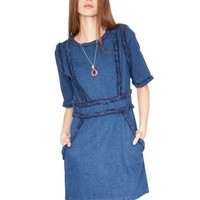 frayed denim dress - Shop the latest Fashion Trends