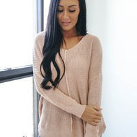 Cherished Memories Sweater - Dusty Blush