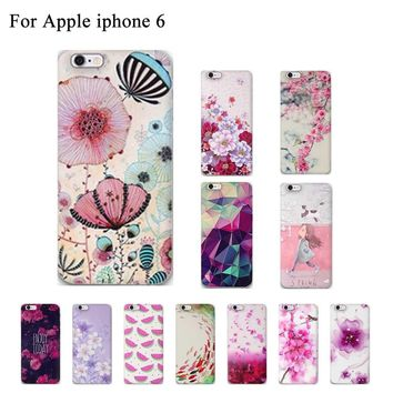 20 Style! Newest Candy Slim Soft TPU Phone Cases For Apple iphone 6 Case 4.7'' New 3D Flower Case For iphone 6S 6 Back Cover Bag