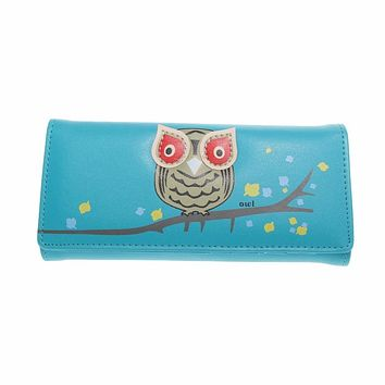 New Fashion Envelope Women Wallet Cute Cartoon Printing PU Leather Wallet Long Ladies Clutch Coin Purse Card Holder Pockets