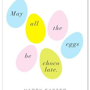 Chocolate Easter Eggs Card