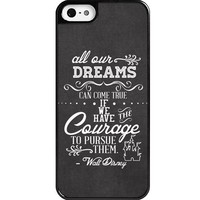 Dreams Walt Disney Quote iPhone 5 case - Custom Personalized iphone 5/5s case