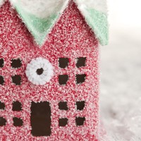 Christmas Cottage - Red Putz House Christmas Decoration