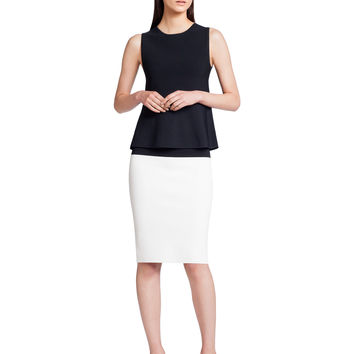 Narciso Rodriguez Structured Knit Tank - Black