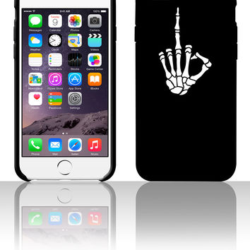 skelett stinkefinger 5 5s 6 6plus phone cases