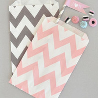 Chevron Paper Goodie Bags (Set of 12)