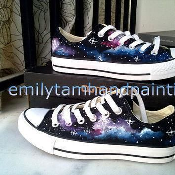 galaxy converse sneakers galaxy low top sneaker orginal design hand painted converse