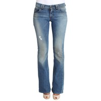 Galliano Blue Wash Cotton Stretch Flare Bootcut Jeans