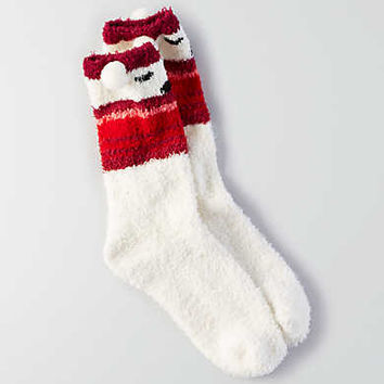 AEO Animal Cozy Crew Socks, Cream