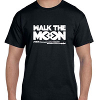 Walk The Moon Title Black And White Mens T Shirt