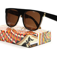 Super Flat Top 871 Sunglasses Col. Tapestry A Mosaic with Brown Zeiss Lenses by RETROSUPERFUTURE