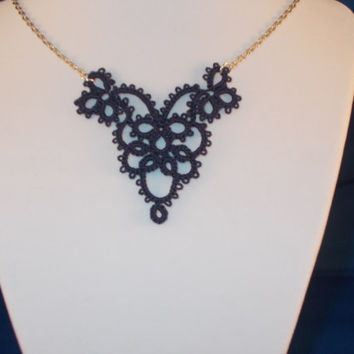 Tatted Victorian Style Pendant or Necklace