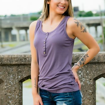 Henley Tank- Lilac