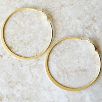 Kixters - Goldtone Hoop Earrings